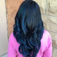 balayage pelo oscuro azul
