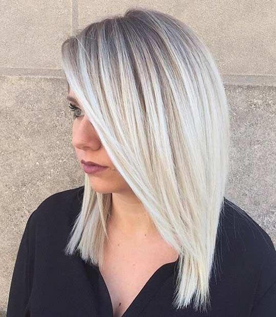 Colores de pelo rubio platino