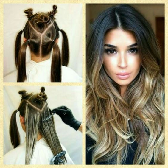 separa tu cabello balayage en casa