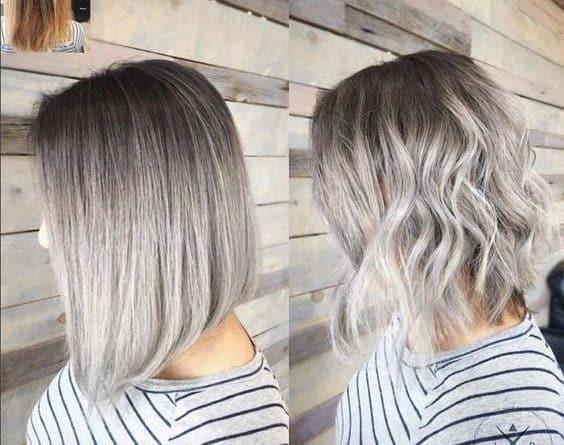 Balayage en el cabello corto