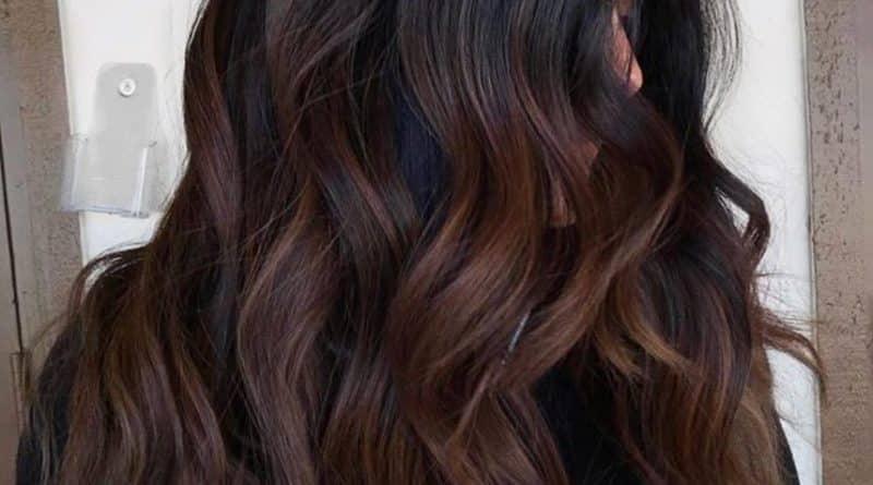 Balayage en cabello negro